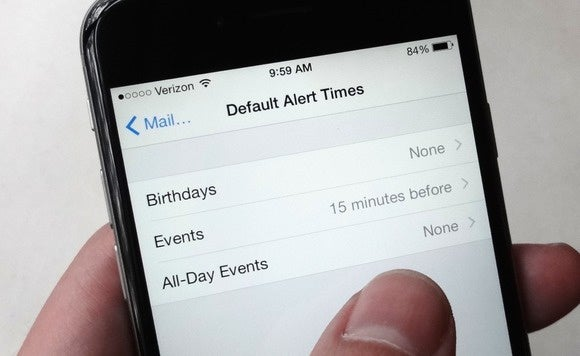 Set a default alert time