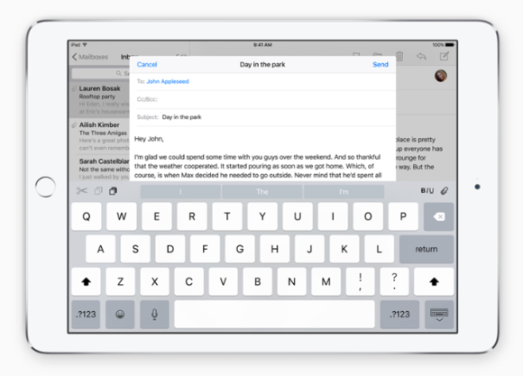 ios9 keyboard buttons apple