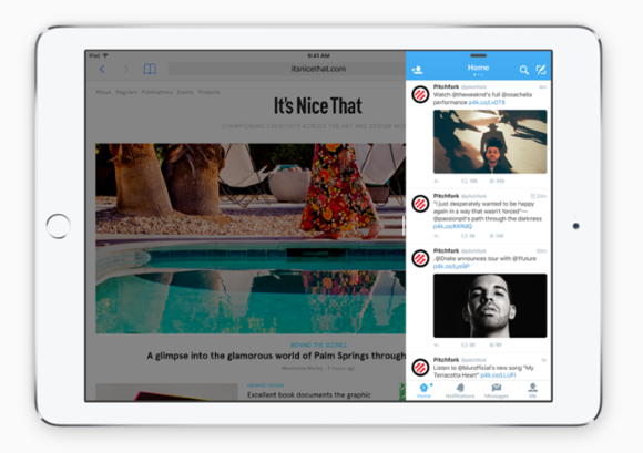 ios9 slide out apple