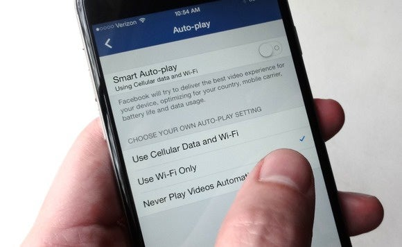 Turn off auto-playing videos on Facebook