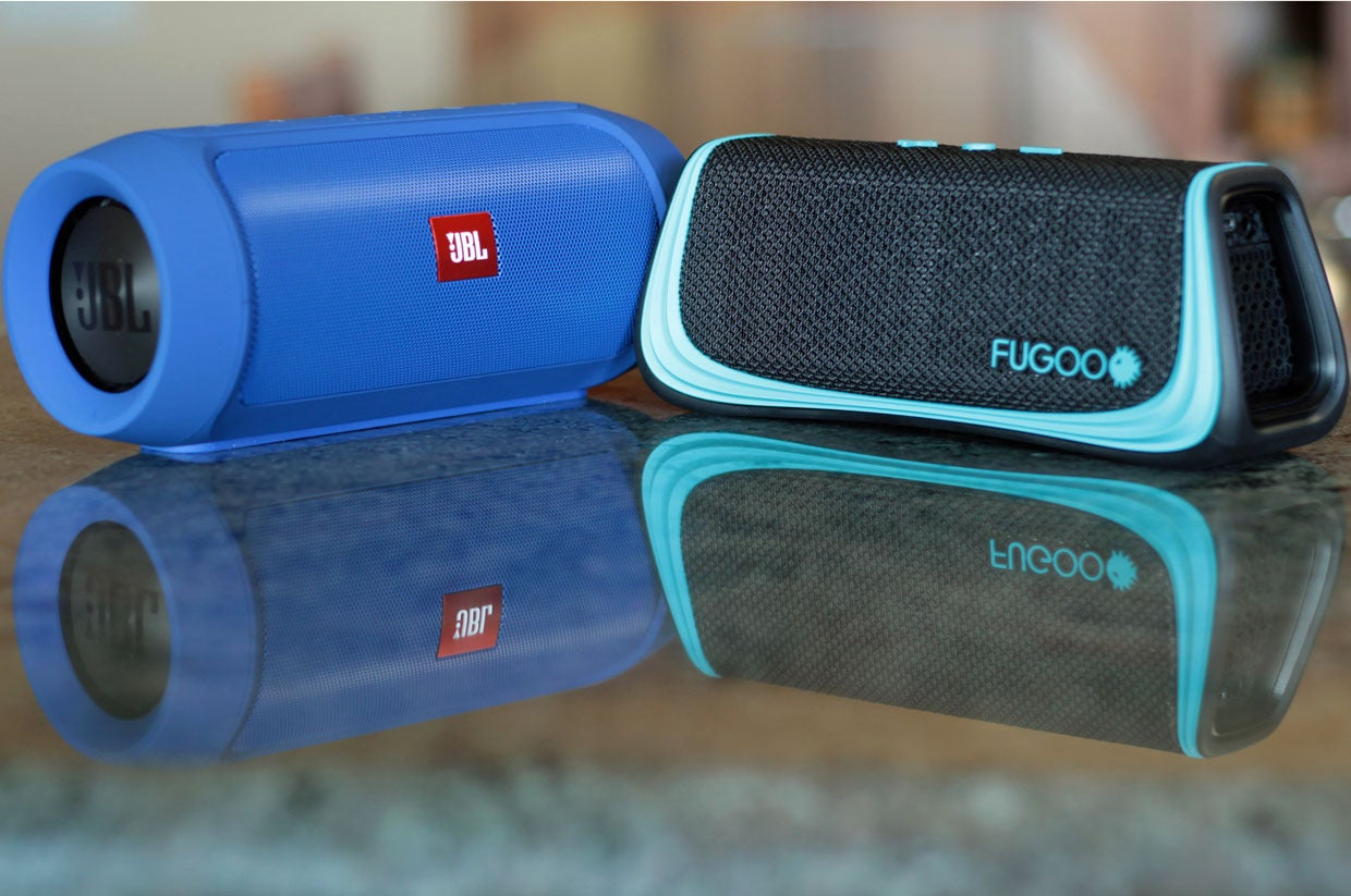 Big sound from rugged Bluetooth speakers: JBL Charge 2+ vs Fugoo