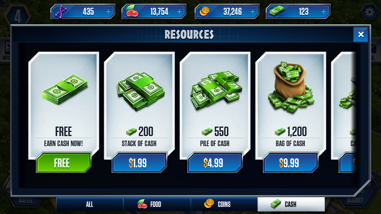 Freemium Field Test Jurassic World The Game Might Leave