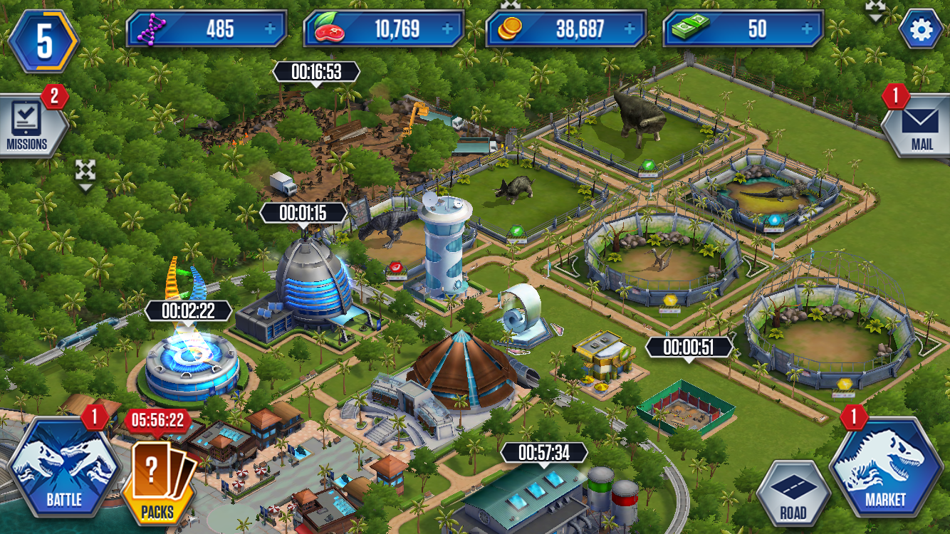 Freemium field test jurassic world the game might leave your note the five separate timers ticking down at once you can speed all of those up with cash of course gumiabroncs Choice Image