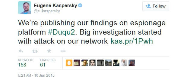 Kaspersky Lab reveals being hacked