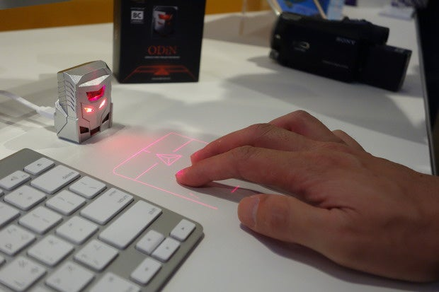 laser projected mouse