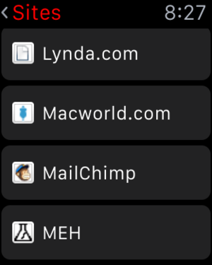 lastpass applewatch sites list