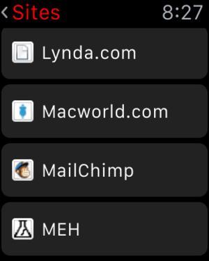 lastpass applewatch sites list