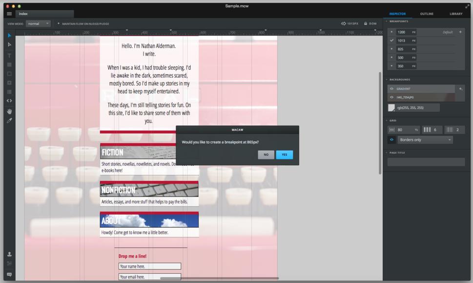 Macaw 1.5.15 review: Promising web design program falls short of ...