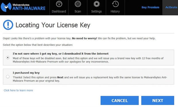 Malwarebytes Amnesty program gives pirates free premium license key
