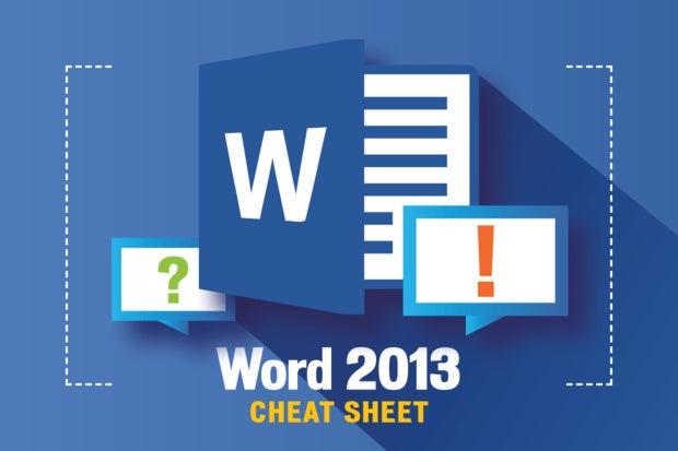 word 2013 cheat sheet