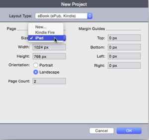 QuarkXPress 2015 new layout ipad