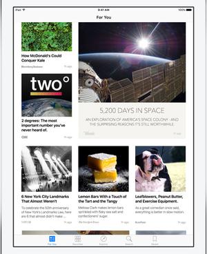news app assembles magazine page