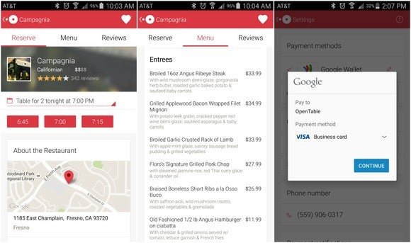 opentable android