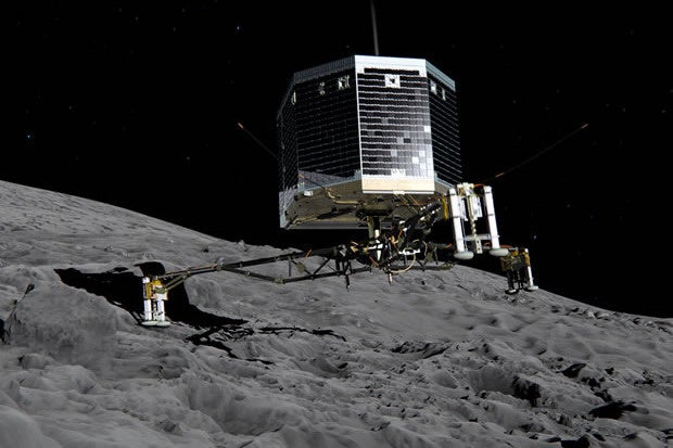 Philae touchdown on comet Churyumov–Gerasimenko