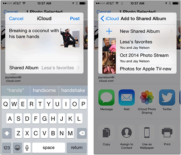 icloud shared album how to add
