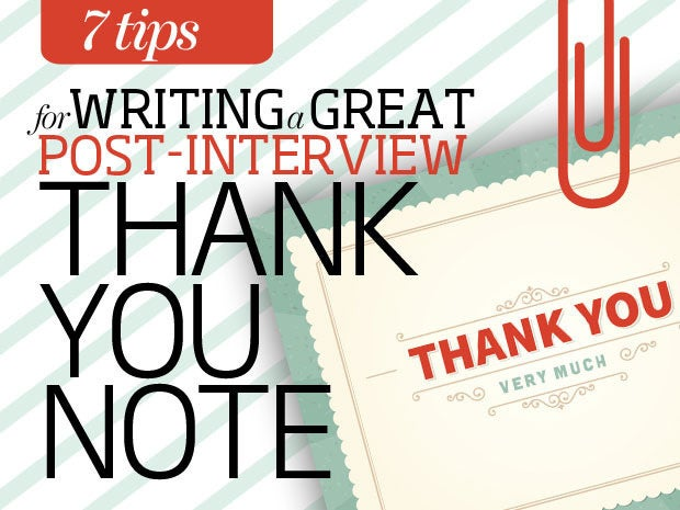 Tips To Writing A Great PostInterview Thank You Note  Cio