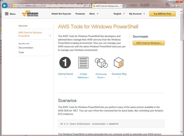 Amazon AWS Tools for Windows PowerShell