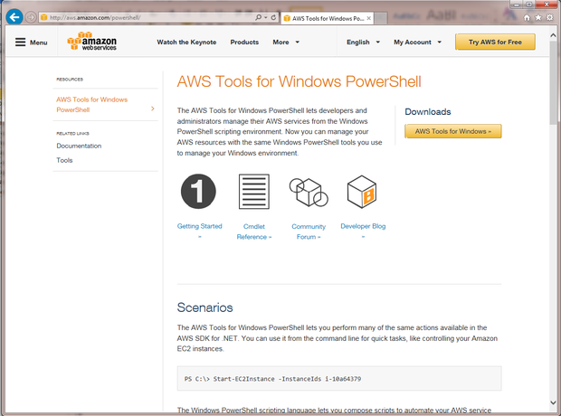 powershell tools aws3