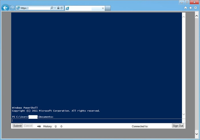 Microsoft Windows PowerShell Web Access, via Control Panel