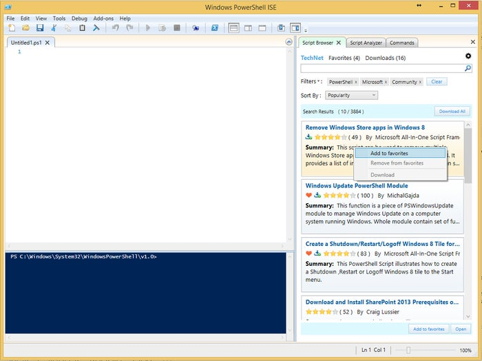 Microsoft Script Browser for Windows PowerShell ISE