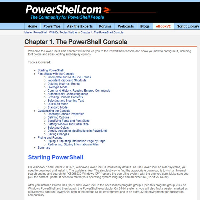 powershell tools weltnerbook9