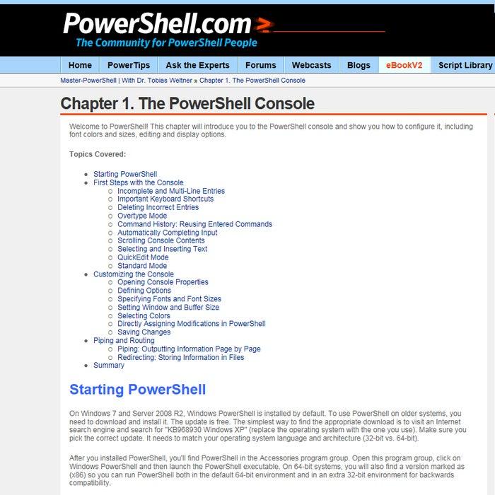 powershell tools weltnerbook9
