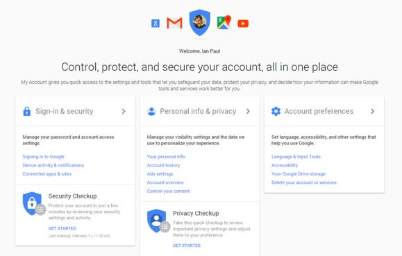 Google unifies your privacy and security settings in one