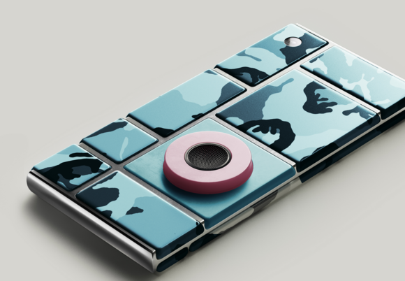 A Project Ara smartphone.