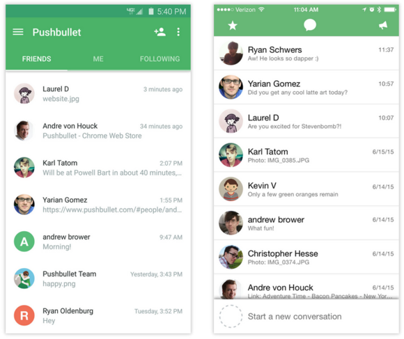 pushbullet messenger