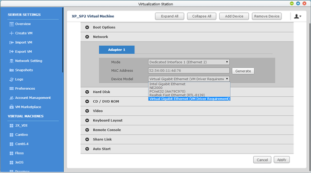 qnap virtualization station