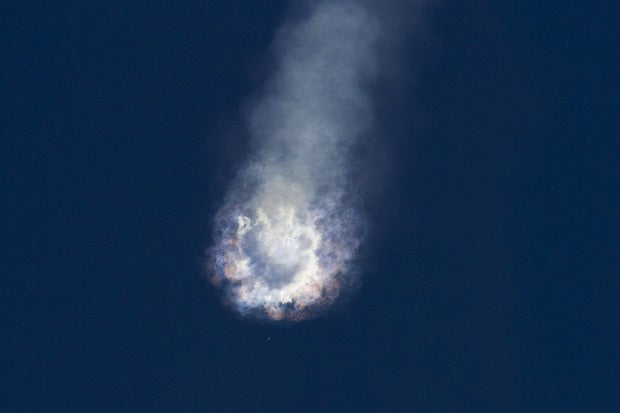 SpaceX Falcon 9 rocket explodes