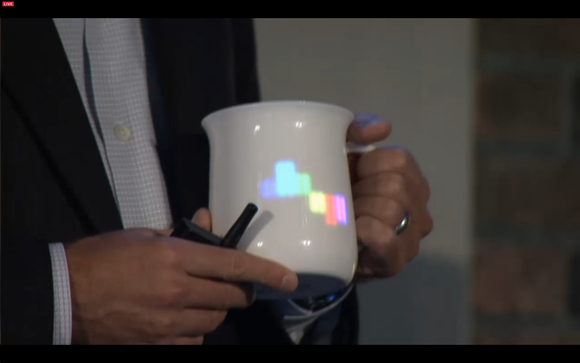 Intel connected coffee cup