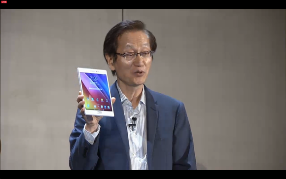 Asus Jonney Shih and tablet