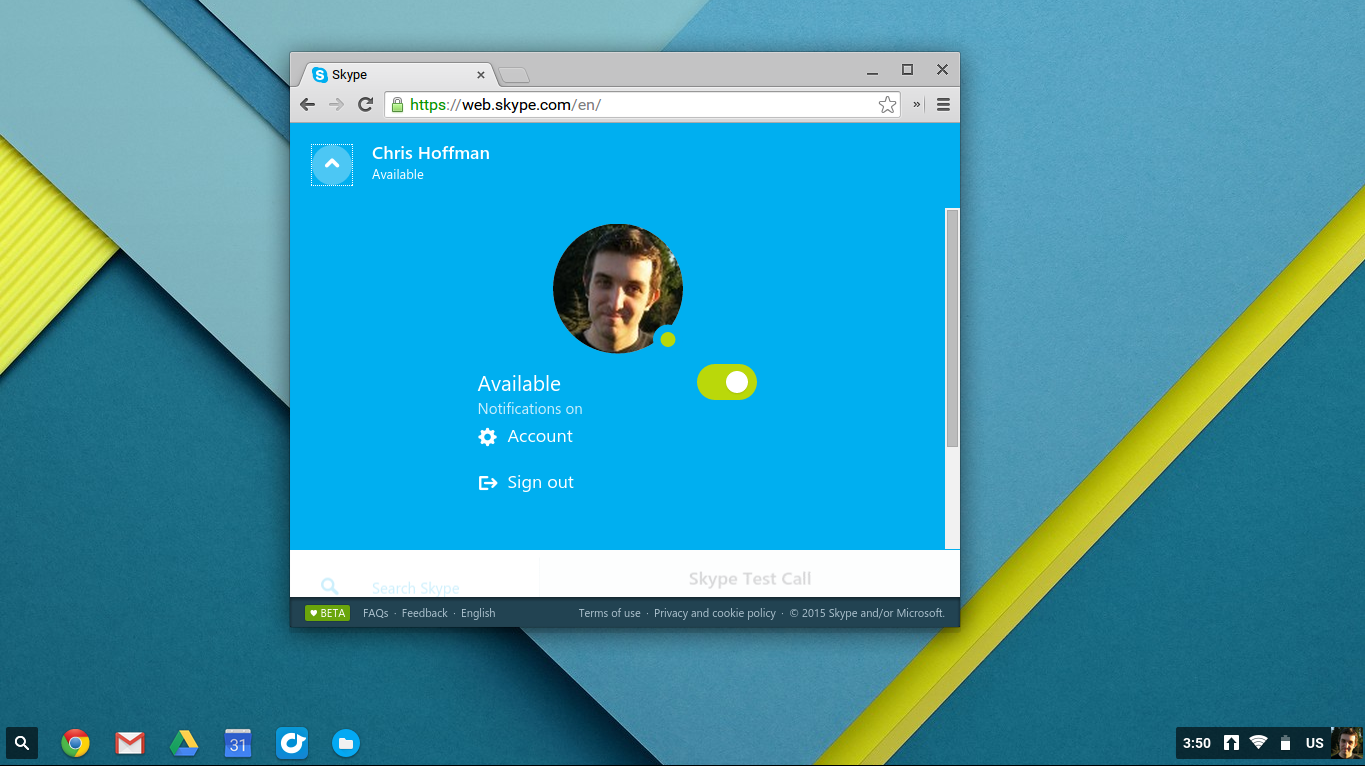 Skype for web brings some of skype to chromebooks pcworld screenshot 2015 06 18 at 35024 pm ccuart Choice Image