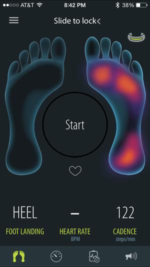 sensoria pressure app