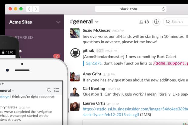 Slack collaboration app