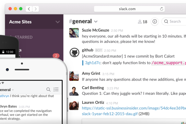 Slack collaboration app