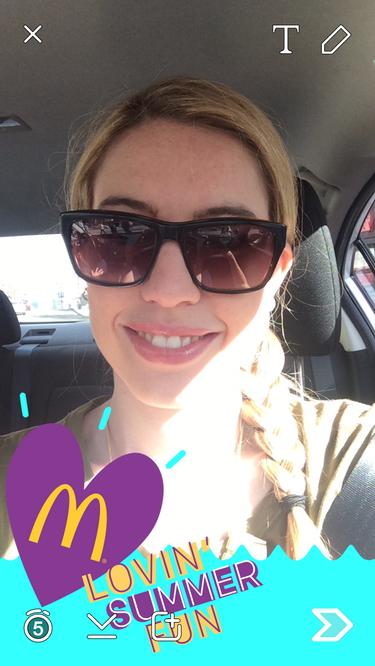 snapchat sponsored geofilter mcdonalds