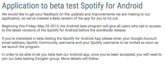 spotify beta android