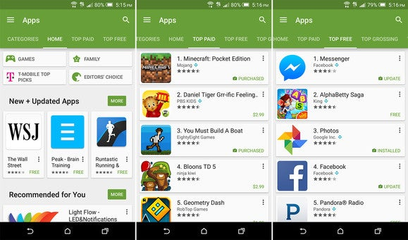 switch iphone to android play store