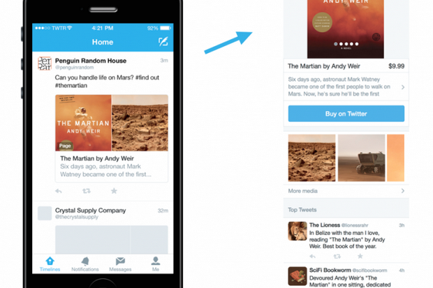 twitter product page mobile