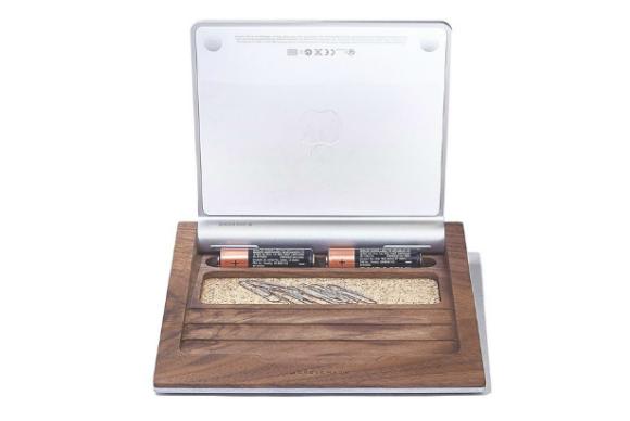 walnut trackpad tray