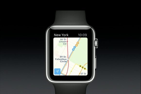 watchos 2 maps