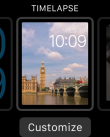 watchos beta 1 time lapse watch face customize