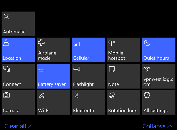 windows 10 mobile flashlight
