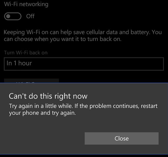 windows 10 mobile wi fi broken