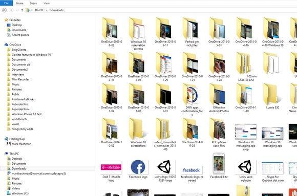 windows explorer sample shot