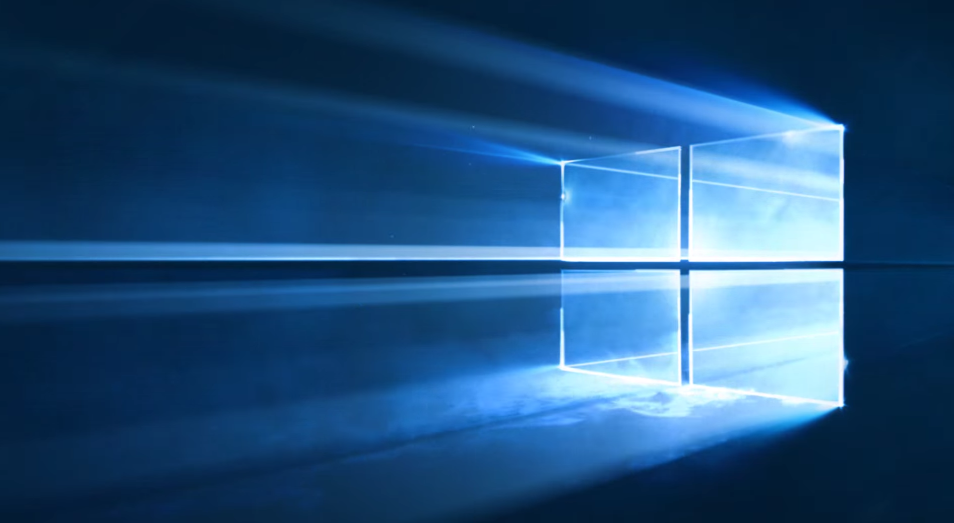 Windows 10's futuristic wallpaper was created with lasers, smoke machines, and crystal dust