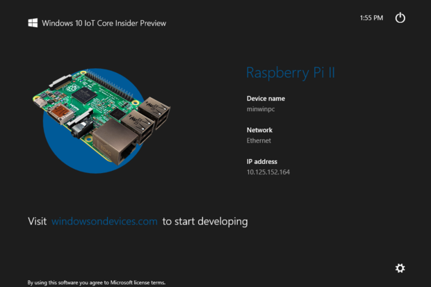 Windows 10 IoT Raspberry Pi 2