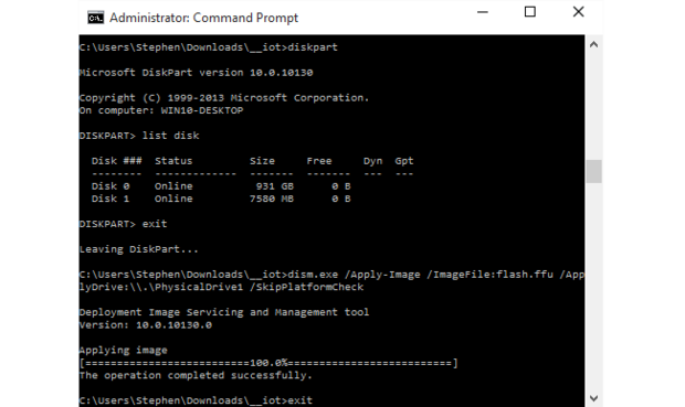 Command Window running as Administrator